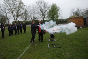Getting in close with a C02 Extinguisher on a small liquid fire 2