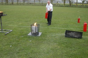 Using a Water Extinguisher
